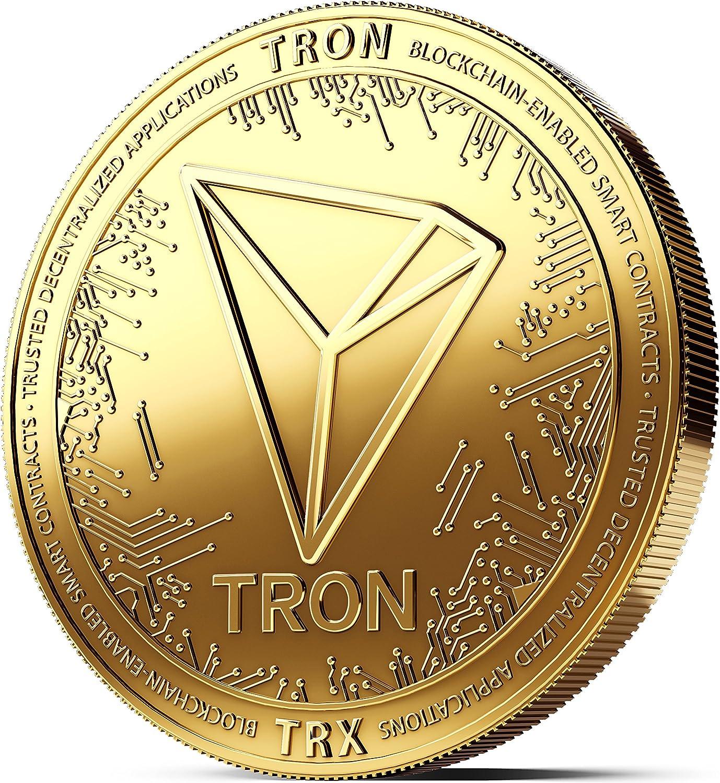 Moneda física de Tron revestida en Oro auténtico de 24 ...