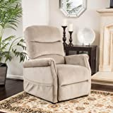 Alan Latte Fabric Lift Up Chair And Recliner