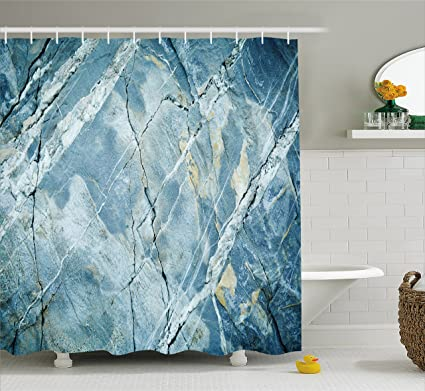 Ambesonne Marble Shower Curtain Exquisite Granite Stone Architecture Floor Artistic Nature Faded Rock Picture