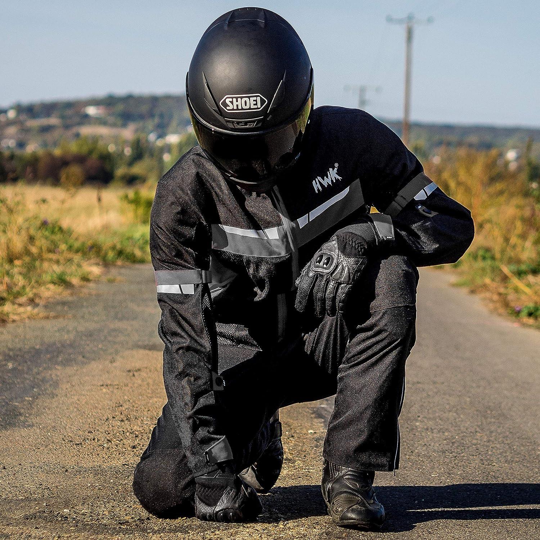 XXX-Large, Blue HWK Mesh Motorcycle Jacket Riding Air Motorbike Jacket Biker CE Armored Breathable
