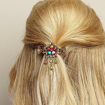 Haarschmuck Blumen Haarschmuck-Blumen Haarspange Rosegold ...