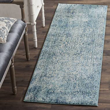 Safavieh Evoke Collection EVK256C Vintage Oriental Blue and Ivory Runner (2'2  x 7')