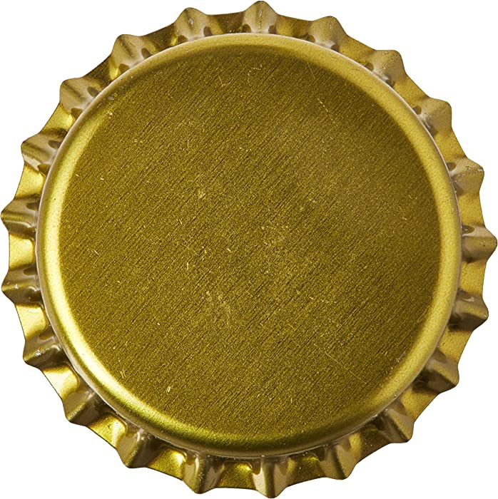 Home Brew Ohio Gold Crown Bottle Caps (Pack of 144)