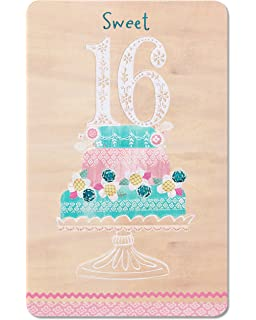 American Greetings Sweet 16 Birthday Card With Glitter