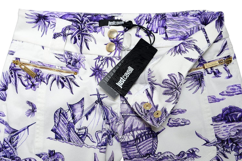 Just Cavalli Women's Multi-Color Printed Casual Pants US 26 IT 40