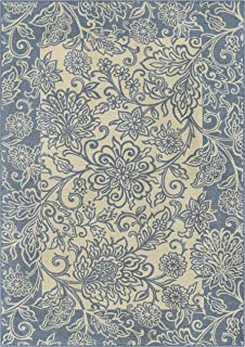 product image for Maples Rugs Adeline Area Rugs for Living Room & Bedroom [Made in USA], 7 x 10, Blue