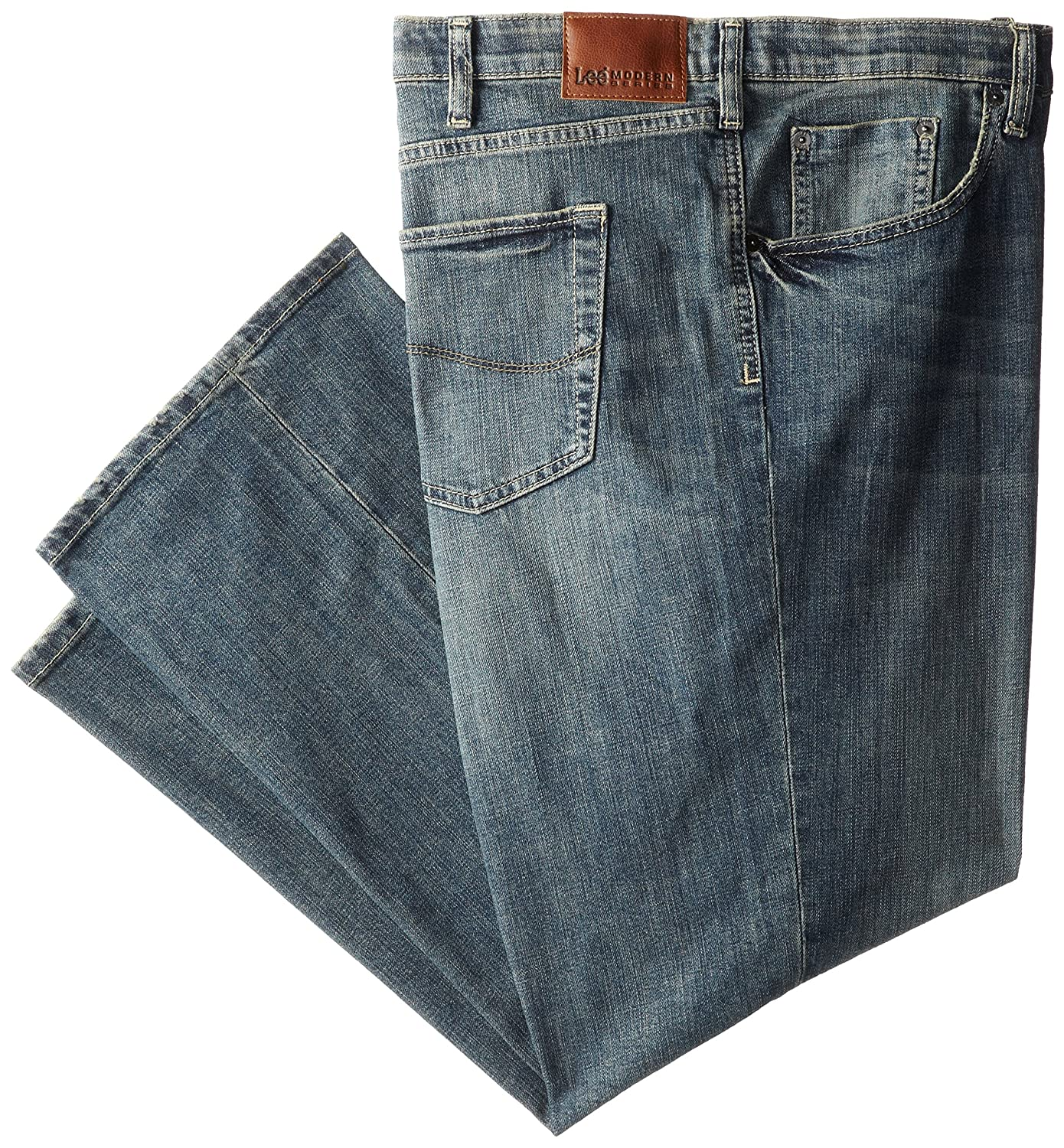 LEE Men's Big-Tall Modern Series Custom-fit Relaxed Straight-Leg Jean Lee Men's Sportswear 21028