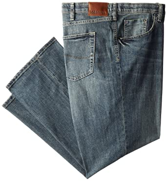 1841c734 Lee Men's Big-Tall Modern Series Custom Fit Relaxed Straight Leg Jean,  Santiago,