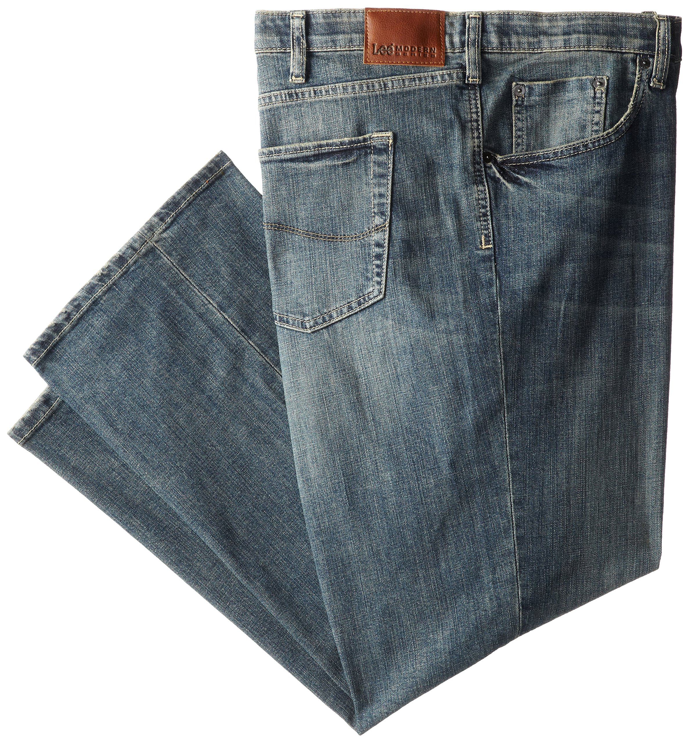Lee Men's Big-Tall Modern Series Custom Fit Relaxed Straight Leg Jean, Santiago, 50W x 32L