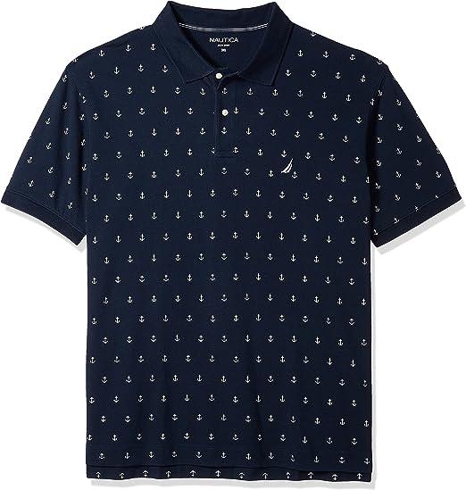 Nautica Mens Classic Short Sleeve Solid Performance Deck Polo Shirt