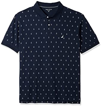 188db257463 Nautica Men s Big and Tall Classic Short Sleeve Solid Deck Polo Shirt