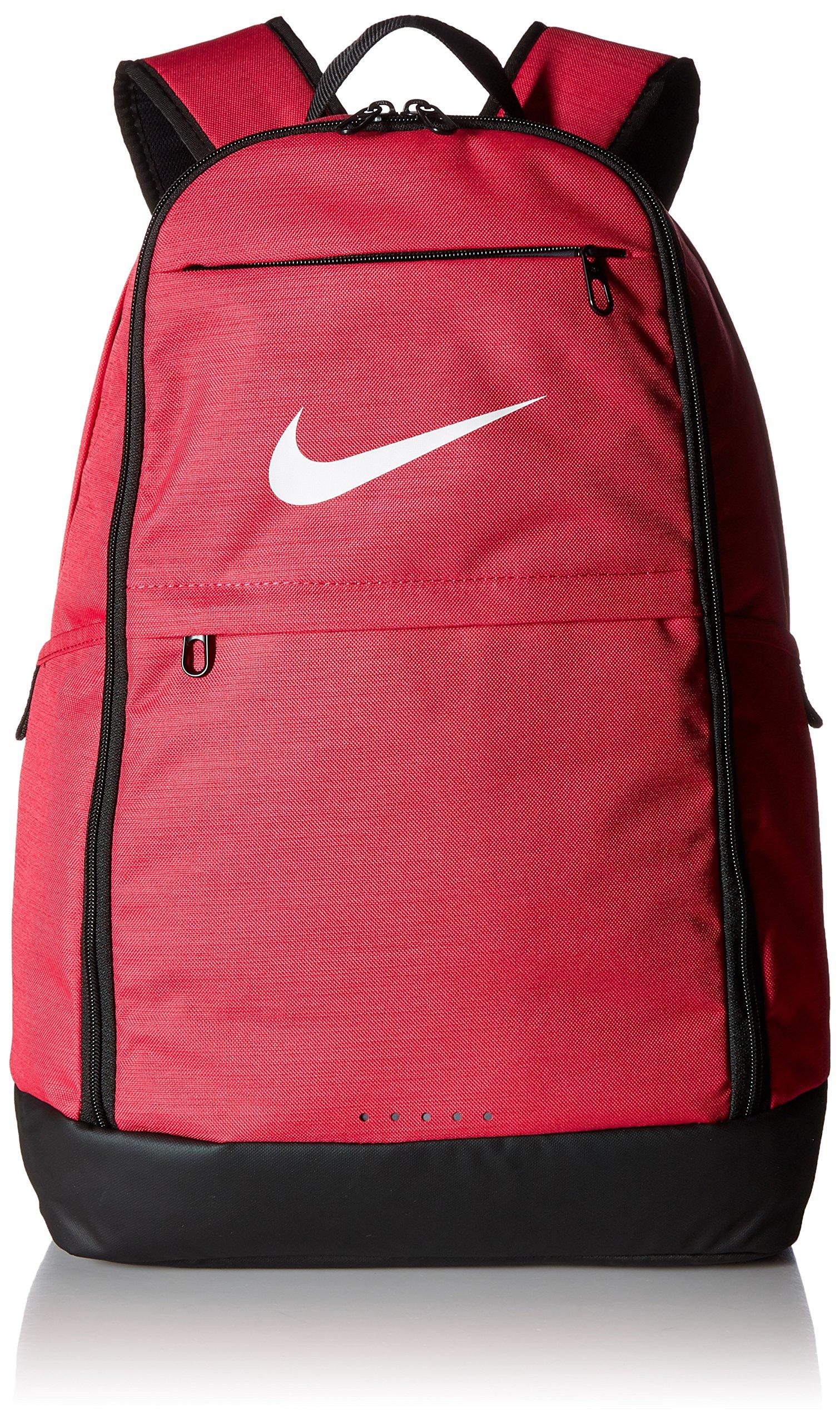 NIKE Brasilia Backpack, Rush Pink/Black/White, X-Large