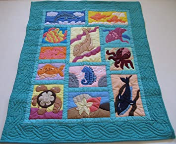 Amazon Com Hawaiian Quilt Baby Blanket Wall Hanging Hand Quilted