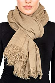GIULIA BIONDI 100% made in Italy Cashmere Scarf Shawl Wrap Natural Colors Italian Soft Long Lightweight Oversized Women Men