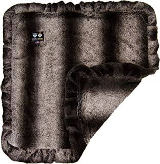 product image for Bessie and Barnie Frosted Glacier (Ruffles) Luxury Ultra Plush Faux Fur Pet, Dog, Cat, Puppy Super Soft Reversible Blanket (Multiple Sizes)