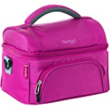 Bentgo Lunch Bag (Purple) - Insulated Lunch Tote for Work and School with Top and Main Compartments, 2-Way Zipper…