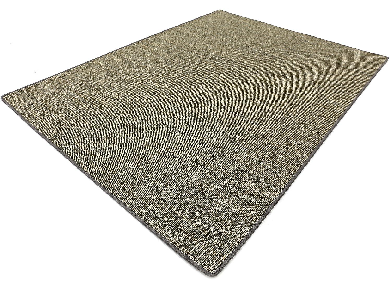 Salsa Design HEVO® Sisal Teppich Granit mit klassischer Kettelkante 200x250 cm