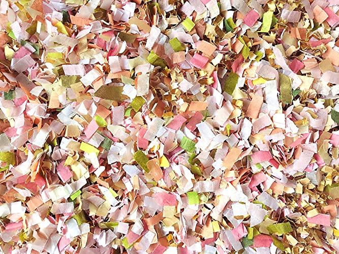 French Garden Wedding Theme Confetti Mix Dusty Pink Peach Gold White