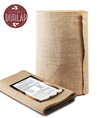 Burlap Table Runner Roll   14u0026quot; Wide X 50 Yards Long. NO FRAY