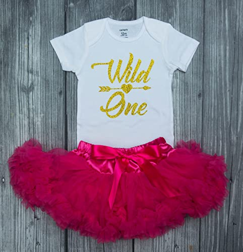 b7dc579c83 Amazon.com  wild one birthday outfit - wild one bodysuit - wild one - first  birthday - wild one outfit - birthday girl - pink and gold - 1st birthday   ...