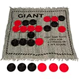 """Trademark Innovations Square Giant Tic Tac Toe Reversible Rug by Game, 25"""""""