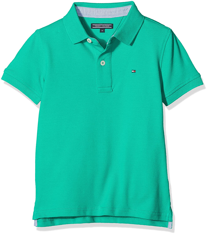 Tommy Hilfiger KB0KB02285, Polo Para Niños, Verde (Simply Green ...