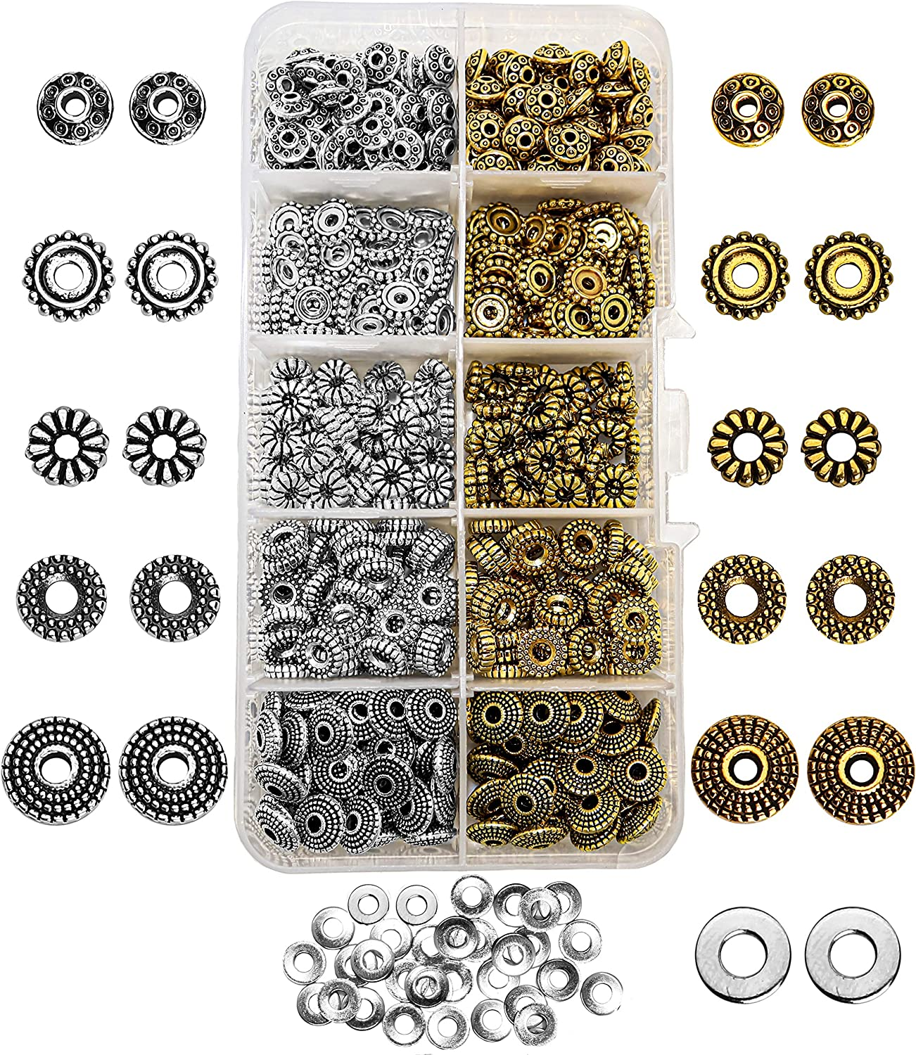 Jewellery Making Findings Kit Gift Gold Silver Antique  Rrp £30 100's Pieces