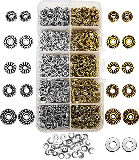 2mm 250 pc Antique Brass Bronze Metal Spacer Beads Jewelry Findings Necklace