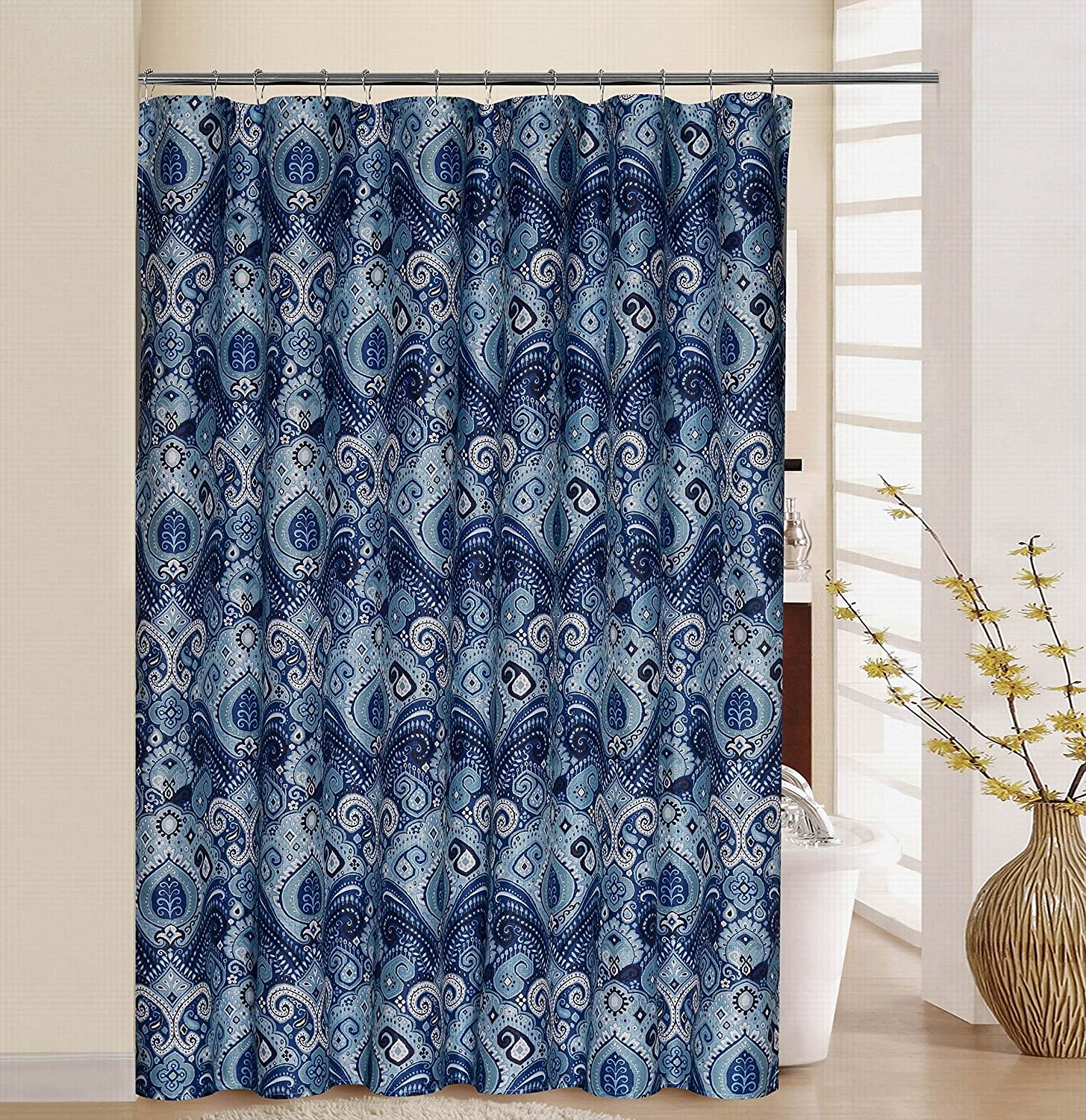 WAVERLY Shower Curtain Set 70' x 72' Floral Engagement