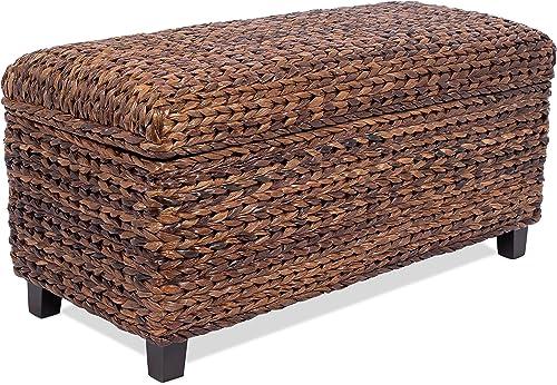 BIRDROCK HOME Abaca Storage Ottoman Bench