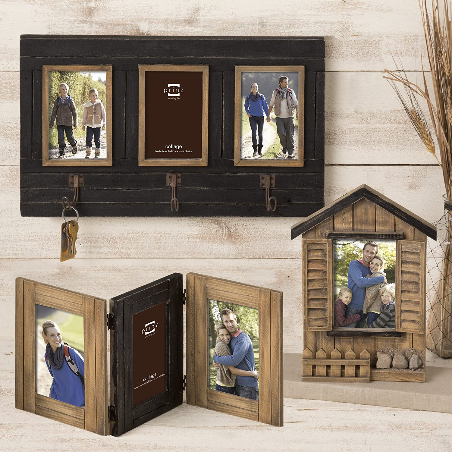 Amazon prinz 3 opening woodlands hinged solid wood frame 4 amazon prinz 3 opening woodlands hinged solid wood frame 4 by 6 inch naturalblack home kitchen jeuxipadfo Gallery