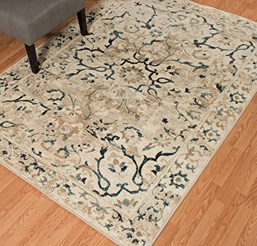 United Weavers of America Bridges Indoor Rug, 12 6 x 15 , Linen