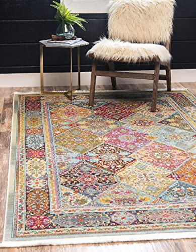 Unique Loom Baracoa Collection Bright Tones Vintage Traditional Multi Area Rug 10 0 x 13 0