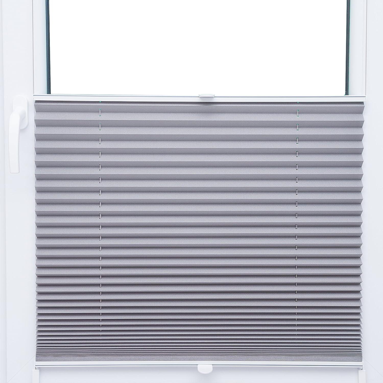 SK Thermo Black Out plissé 50x 200cm Store clair gris argent métallisé 100% occultant–80Tailles dans notre boutique–Mega au choix 2017