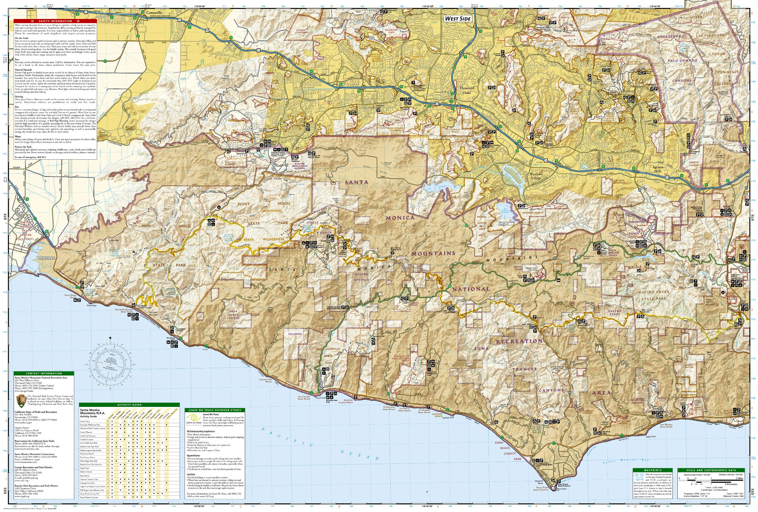 Santa Monica Mountains National Recreation Area (National Geographic ...