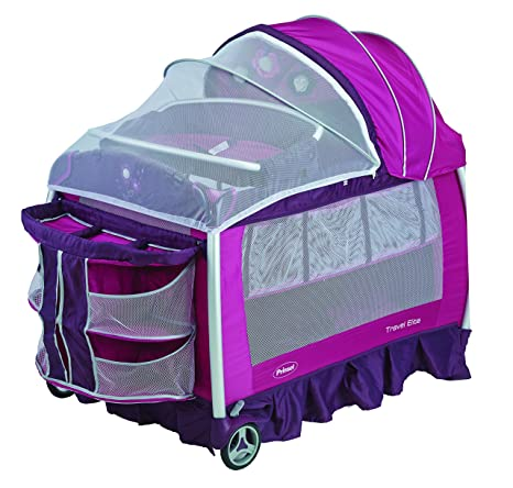 Prinsel 6016 Cuna Travel Elite, color rosa con morado: Amazon.com.mx ...