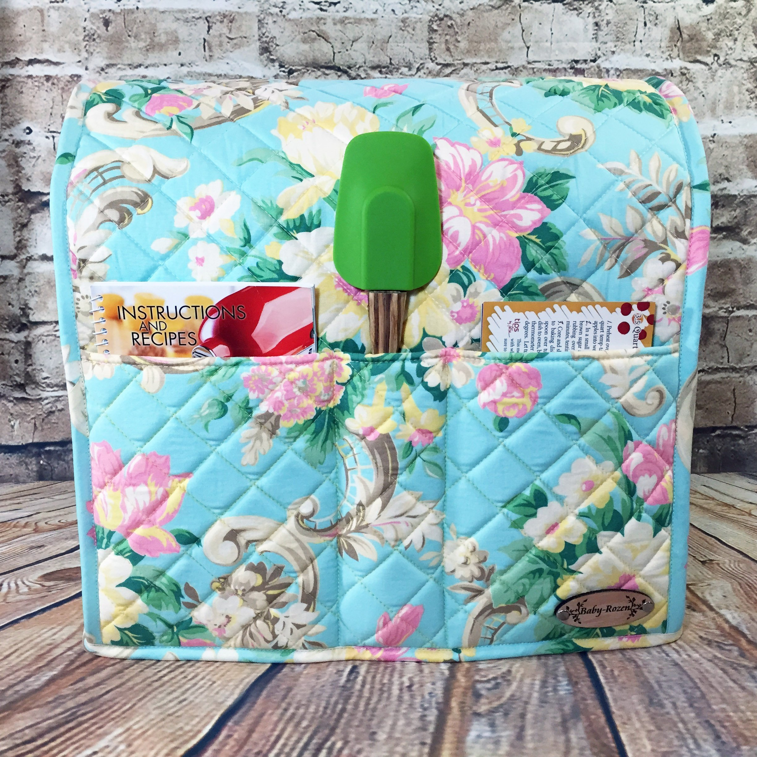 100% Cotton, Custom, Heirloom Quality, Quilted, Mixer Cover, Handcrafted to fit a 4.5 Qt. or 5 Qt. KitchenAid Tilt-Head Stand Mixer, Cozy, Made in Vermont by Baby Rozen Design (Image #2)