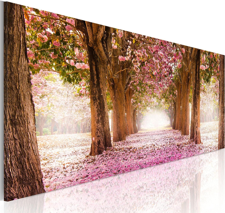 murando Cuadro en Lienzo Bosque Flores 135x45 cm 1 Parte impresión en Material Tejido no Tejido Cuadro de Pared impresión artística fotografía gráfica decoración Naturaleza Paisaje c-A-0052-b-b