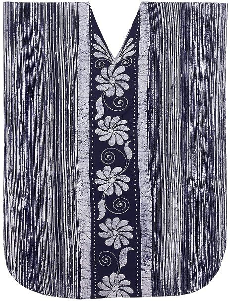 6d7cf4bdd9fd LA LEELA Mujeres Caftán Algodón túnica Batik Kimono Libre tamaño Largo Maxi  Vestido de Fiesta para Loungewear Vacaciones Ropa de Dormir Playa Todos los  días ...
