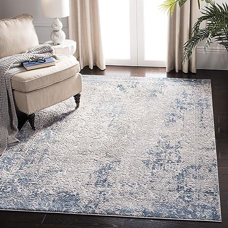 Safavieh Inv465f 7sq Invista Collection Inv465f Grey And Ivory 6 7 Square Area Rug Furniture Decor
