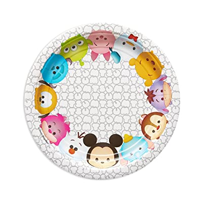 American Greetings Tsum Tsum Paper Dessert Plate, 8 Count: Toys & Games