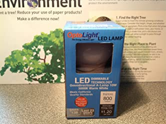 OptoLight 10W LED A19 Long-lasting LED Bulb