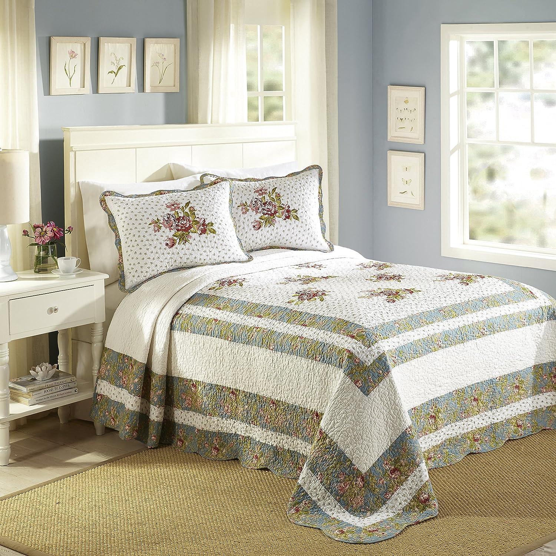 Modern Heirloom Collection Loretta Bedspread, Queen, White