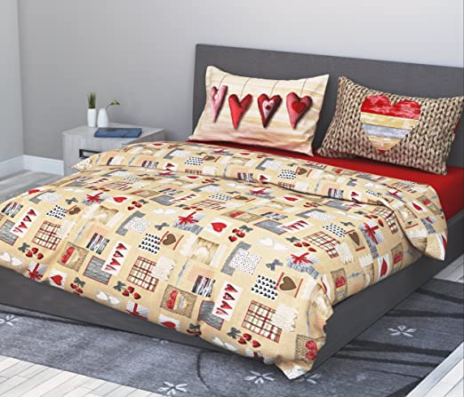 Juego de sábanas (100 % algodón para cama de matrimonio 2 plazas 4 ...