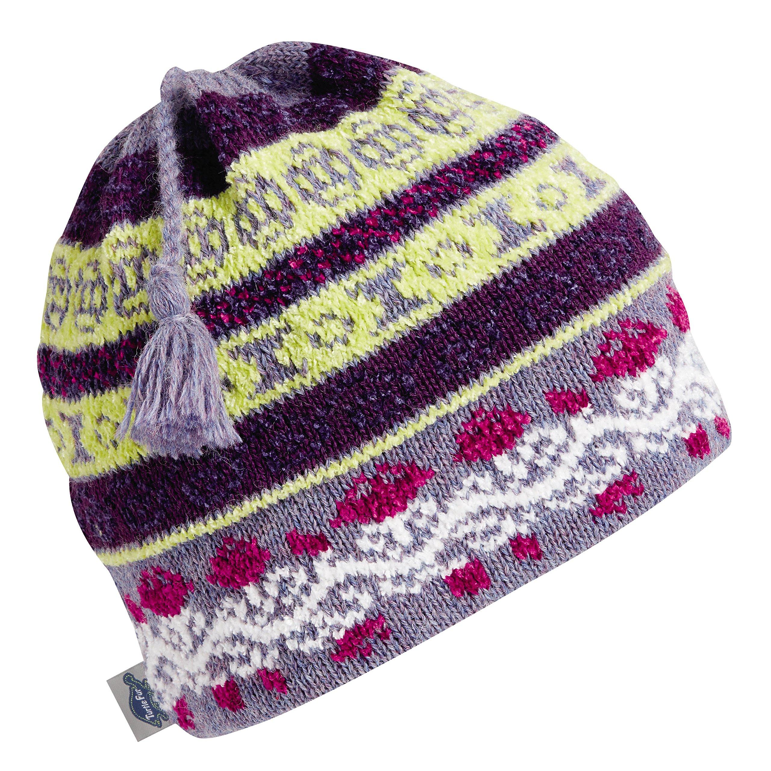Turtle Fur Lady Fairisle Women's Classic Wool Tassel Ski Hat Columbine Heather
