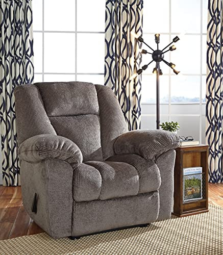 FurnitureMaxx Nimmons Contemporary Fabric Taupe Color Zero Wall Recliner