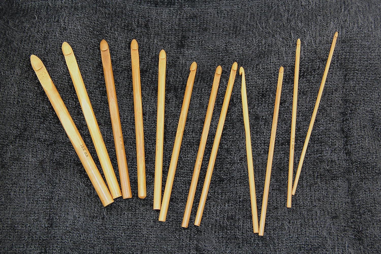 22 piezas de aluminio RayLineDo Lote de agujas de ganchillo Multi-A 12 piezas de bamb/ú con 20 marcadores de ganchillo 4pcs//pack