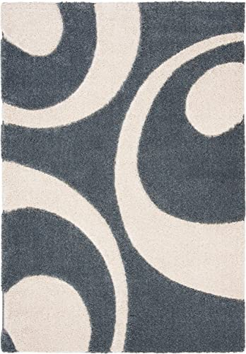 Safavieh Florida Shag Collection SG474-6511 Area Rug, 8 x 10 , Slate Ivory