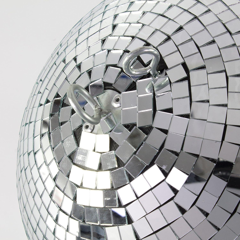 plateada /Ø 40 cm Esfera giratoria // Decoraci/ón fiestas showking Bola de discoteca GLIX con espejos
