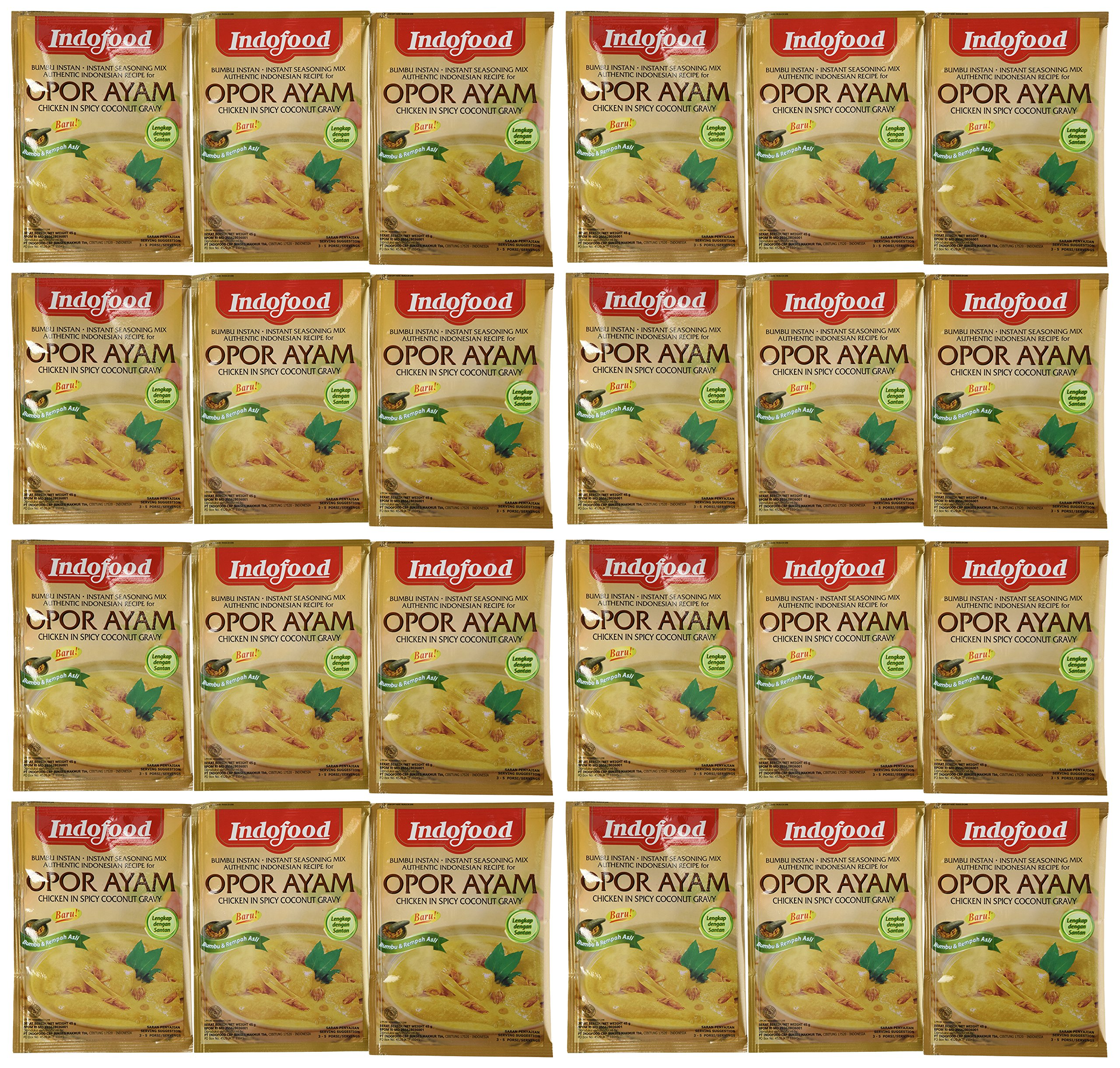Indofood Opor Ayam Curry Sauce, 1.6 Ounce (Pack of 24)